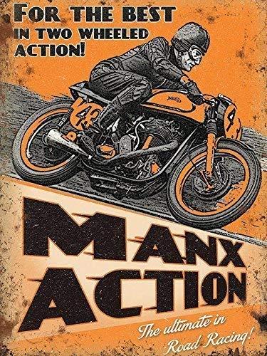 RKO MANX ACTION TT PISTE COURSE MOTO garage-parent - 9 x 6.5 cm (Magnet)