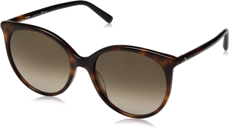 Max Mara Women's Mm Tube Ii Oval Sunglasses, HAVN Blck, 56 mm