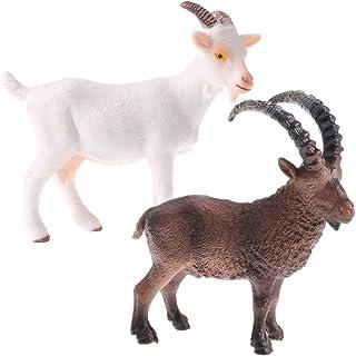 動物モデル 置物 山羊 インテリア フィギュアおもちゃ 装飾 プラスチック 認知おもちゃ