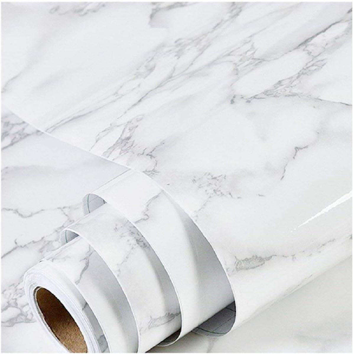 Papel Autoadhesivas Y Extraibles En Rollo 61x300cm-marmol