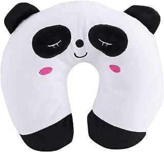 Almohada de Viaje para niños - Forma de u Toy Toy Pillow para Baby Kid, Cuello de Asiento para automóvil de Viaje, Resto de algodón Suave (Color : Panda)