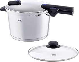 Fissler FISS-AMZ125BOM vitaquick , Pressure Cooker Set, 8.5 Quart, with Glass Lid,..