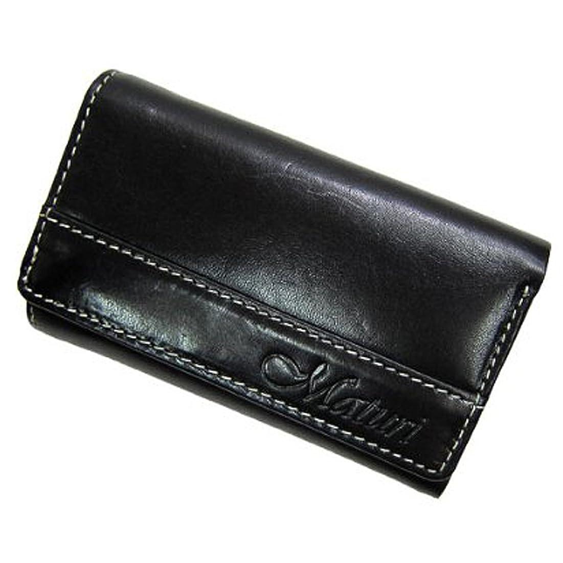 先例小川途方もないMaturi マトゥーリ プッチーニ イタリアンレザー 3way多機能 キーケース 財布 MR-116 黒