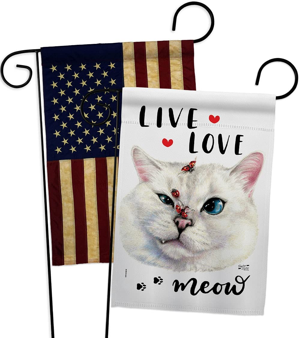 Angeleno Memphis Mall Heritage Live NEW Love Meow Garden Pack Kitten Spo Flag Cat