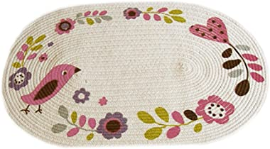 Bedroom Cotton Woven Floor Mat (Color : 2#, Size : 50 * 76CM)