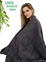 Beauty Kate Cooling Weighted Blanket with 100% Bamboo Viscose 20lbs Queen Size(60