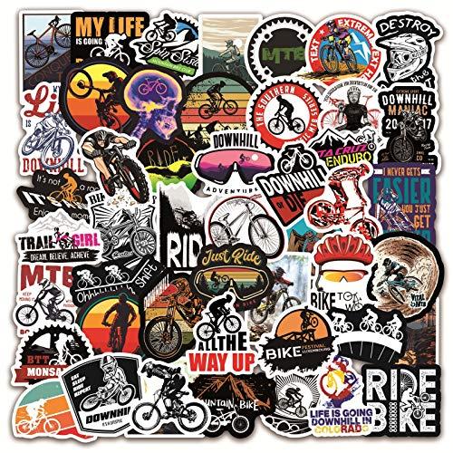 PMSMT 10/50/100 Piezas Pegatinas de Bicicleta al Aire Libre MTB Pegatina de Graffiti para Bicicleta de montaña Casco de Equipaje Caja de Coche Maleta Pegatina Fresca