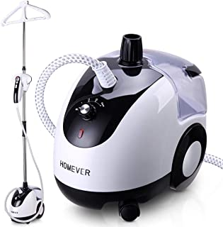 Homever Steamer for Clothes, Garment Steamer 25s Fast Heating with Auto-Clean Mode, Upgraded Horizontal or Vertical Ironing, 2.6L/88oz, 90min Continuous Ironing for The Clothes Steamer.