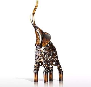 ECSWP MLJW Métal Tissage Figurine Fer Figurine décor à la Maison Artisanat Animal Artisanat Cadeau pour Bureau à Domicile