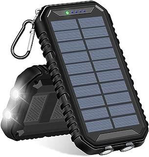 FEELLE モバイルバッテリー ソーラーチャージャー 12000mAh IP65防水 携帯 ソーラー充電器 2USB出力ポート スマホ/iPhone/iPad/Samsung/Androidなど対応