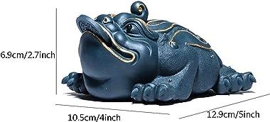 Feng Shui Money Toad Sculpture Decoration Money Frog Statue Home Decoration Wealth Frog for Cash Register Office Desk Store O