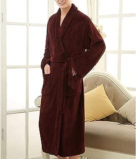 Lutratocro Men Plus Size Homewear Flannel Winter Fleece Bathrobe Lounge Robe