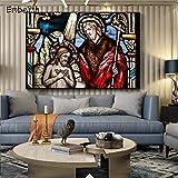 KWzEQ Imprimir en Lienzo Estatua de Jesucristo Fotos Arte de la Pared decoración para Sala de Estar carteles45x68cmPintura sin Marco