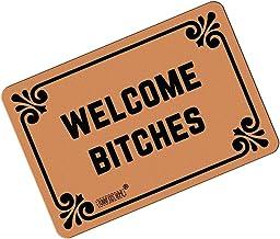 "FUNNY KIDS' HOME Welcome Bitches - Funny Doormats Personalized Durable Machine-washable Indoor/outdoor Door Mat 23.6""(L) x..."