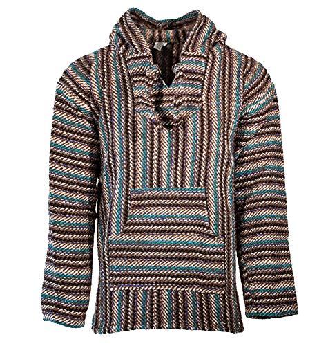 Funny Guy Mugs Premium Baja Hoodie Sweatshirt Pullover Jerga Poncho (Oscar, X-Large)