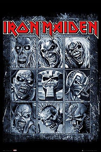 Iron Maiden - Eddies - Musik Hard Heavy Band Poster Druck - Grösse 61x91,5 cm + 1 Ü-Poster der Grösse 61x91,5cm