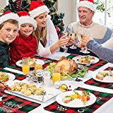 MTaoyac Weihnachten Deko, Weihnachts-Platzsets, Weihnachts-Tischsets und Untersetzer, rutschfest ,hitzebeständig, wasserdicht, Schmutzabweisend und Waschbare.(6er Set) - 7