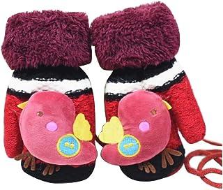 Children Winter Cute Wool Mittens, Thick Infant Warm Gloves, Bird Type, C01