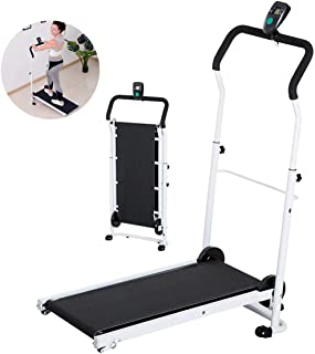LUHUIYUAN Pieghevole Tapis roulant per la casa, Mini Indoor Perdita di Peso Fitness Equipment Manuale Pieghevole LCD Tilt ...