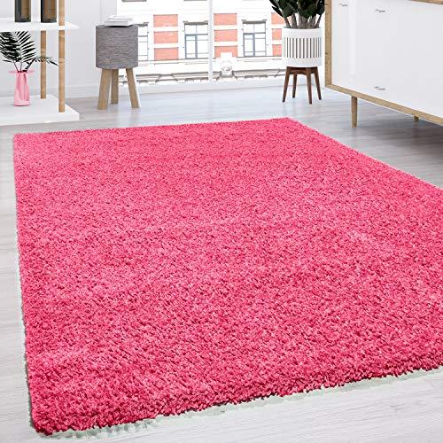Paco Home Hochflor Shaggy Langflor Teppich versch. Farben u. Grössen TOP Preis NEU*OVP, Grösse:60x100 cm, Farbe:Pink