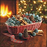 Plow & Hearth Fireside Gift Basket with Fire Starters