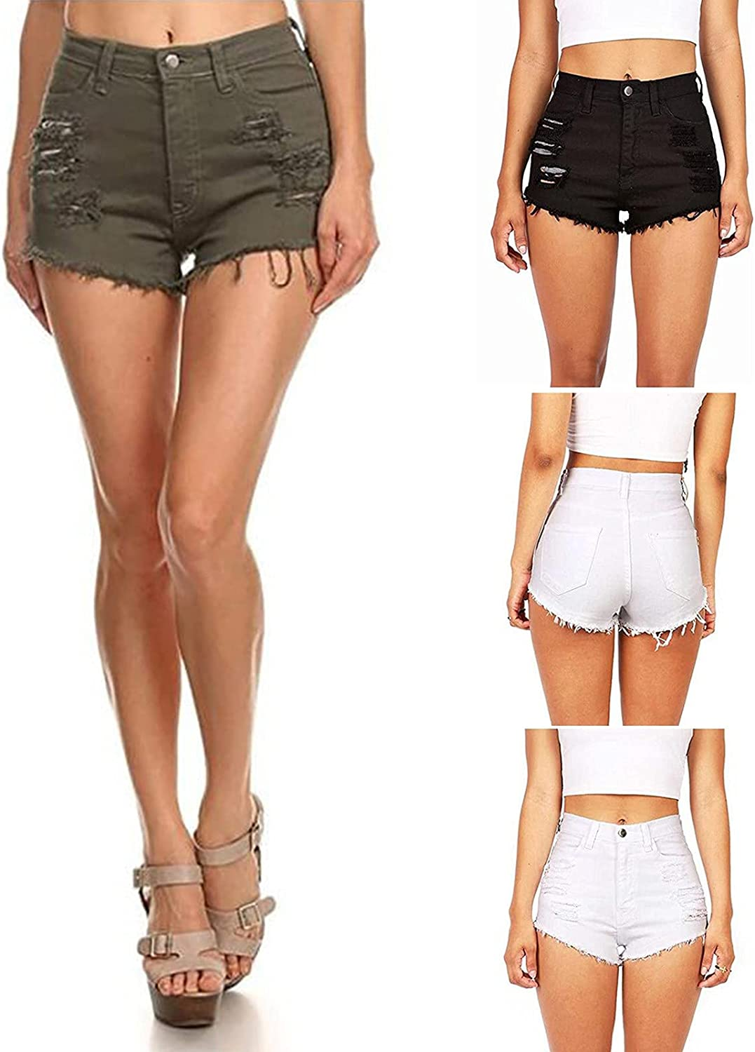 ZGNB Jeans Shorts for Women Women's Casual Fashion Insert Pockets Sexy Personality Ultra-Short Denim Shorts