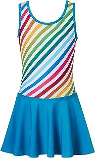 Belovecol Girls Gymnastics Leotards Skirted Dance Dress Mermaid Sleeveless Leotard Skirt with Shorts 4-9 Years