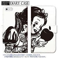 301-sanmaruichi- iPhoneSE ケース iPhone5s ケース iPhone5 ケース 手帳型 おしゃれ SNOW WHITE PRINCESS プリンセス 白雪姫 rock tattoo D 手帳ケース