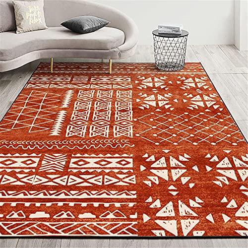 LBMTFFFFFF Alfombra alfombra alfombra para el hogar, salón, felpudos, alfombra grande, rectangular, estilo étnico, suave y agradable al tacto, C, 80 x 120 cm