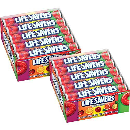 LIFE SAVERS 5 Flavors Hard Candy Rolls 20-Count Box