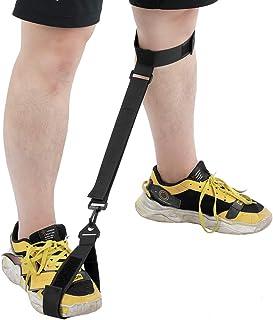 AMONIDA Corrector de Postura, Correa de pie, corrección de Movimiento de Pierna de Mujer Gruesa Hombre para Entrenamiento primario de Golf(Black)