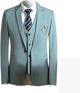 FOMANSH メンズ スーツ スリムスーツ スリーピーススーツ 一つボタン 無地 長袖 ビジネススーツ 春秋 夏 シルエット ビジネス・パーティ結婚式