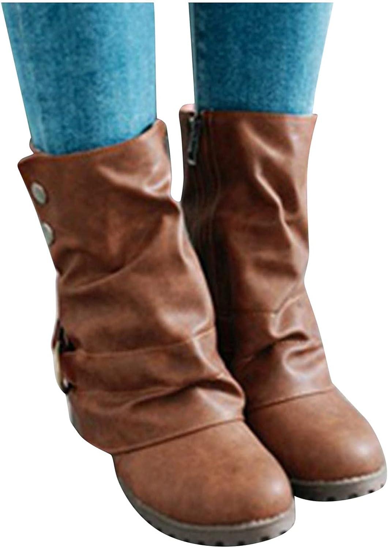 service Gorgeous NIMIZIA Ankle Boots for Women Winter Retro Women's Zipper Autumn