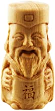 FOY-MALL Cute Thuja Sutchuenensis Wood Chinese God of Happiness Statue Figurine S1056