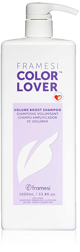 Framesi Color Lover Volume Boost Shampoo - 33.8 Ounce, Color Safe, Weightless, Volume Shampoo With No Sulfate, Vegan, Gluten Free, Cruelty Free