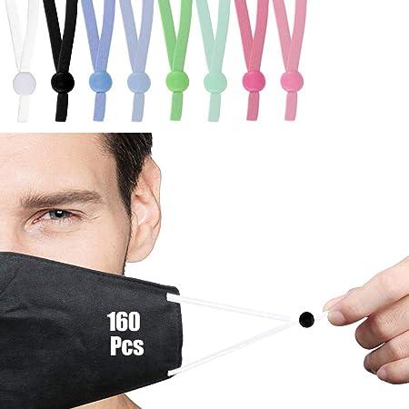 Rutschfester Stopper runde elastische Verstellschnalle elastische Kordel-Einsteller sopplea 400 St/ück Kordelstopper aus Silikon f/ür Kordelz/üge weiches Seil.
