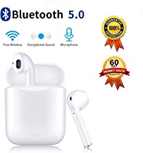 Bluetooth Headphones Wireless Earbuds with Charging Case Noise Canceling Sports Headphones IPX5 Waterproof in-Ear Built-in Mic Headset for iPhone Android & Window