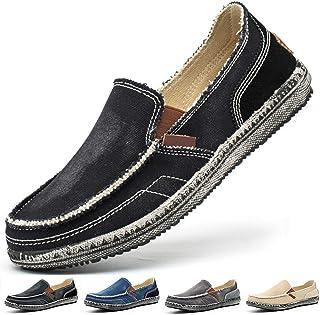 Homme Chaussures en Toile Bateau Espadrilles Flâneurs Poids léger Appartement Doux Durable Fait Main Anti-dérapant Chaussures