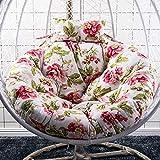 JBNJV Coussin de siège futon Coussin de Chaise hamac Suspendu Rond en Osier Coussin de Chaise en rotin en Osier Suspendu Coussin de siège de Chaise pivotante (Couleur: O, Taille: diamètre: 120 cm