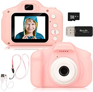 Barwa Camera for Kids, Kids Camera Toy Camera for 3-10 Year Old Girls and Boys (32GB TF Card Included)