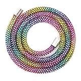 Cuerda De Mano De Diamantes De Imitación, Pulsera De Diamantes De Imitación Colorida De Diseño único De Diamantes De Imitación Para La Cena De Empresa Para El Vestido De(colores del arcoiris)