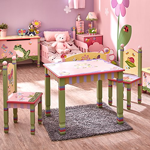Hot Sale Teamson Kids Girls Table and Chairs Set - Magic Garden Room Collection