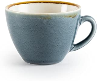 Olympia Kiln GP348 Cappuccino Cup Ocean, 340 mL (Pack of 6)