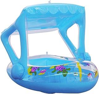 Ksruee Barco Hinchable Niños con Techo - Flotador para Bebé con Asiento - para Piscina y Playa