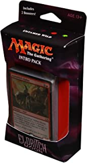 Magic the Gathering: MTG Eldritch Moon: Intro Pack / Theme Deck: Untamed Wild (includes 2 Booster Packs & Alternate Art Premium Rare Promo) Red / Green - Assembled Alphas