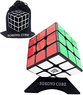 SOKOYO MoYu WEILONG GTS 2M 3x3 Speed Cube Smooth Cube Brain Teaser Puzzle Toys with One Cube Bag and One Cube Tripod (Black)