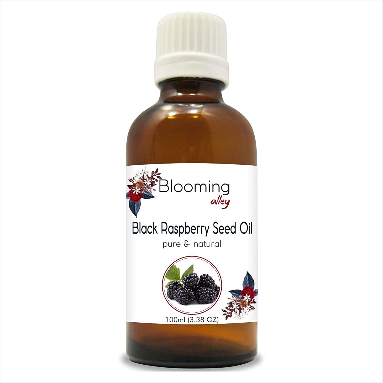 フェンス有用センターBlack Raspberry Seed Oil (Rubus occidentalis) 100% Natural Pure Undiluted Uncut Carrier Oil 100ml