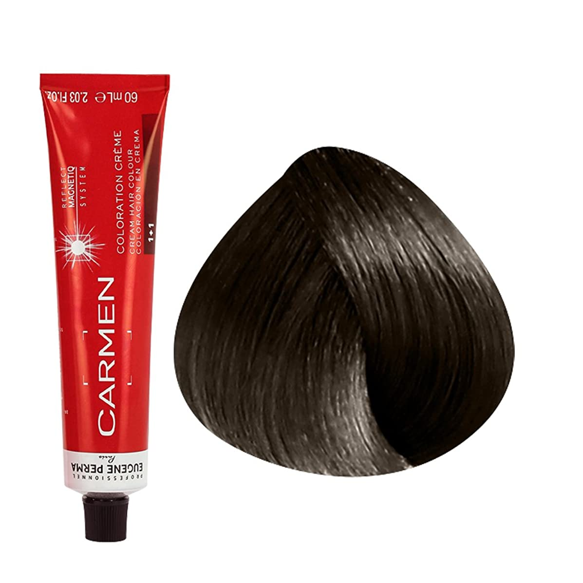 Carmen Ultime by Eugene Perma - Cream Hair Color - Size: 2.03 Fl. Oz. Tube - Shade Selection: 5 - Light Brown
