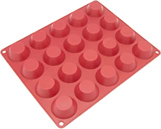 Freshware Silicone Mold for Pudding, Muffin, Cheesecake, Custard and Tart, 20-Cavity