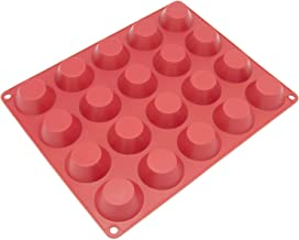 Freshware CB-102RD 20-Cavity Mini Silicone Mold for Homemade Tart, Quiche, Pastry, Cake, Pie, Pudding, Jello, and More
